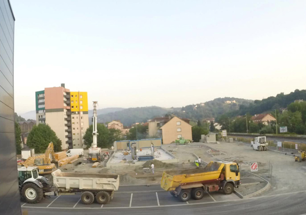 Construction du McDonald's de Decazeville